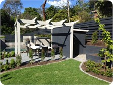 Ringwood East Project - Screen, retaining wall, arbour, paving